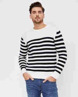 Wełniany sweter w pasy