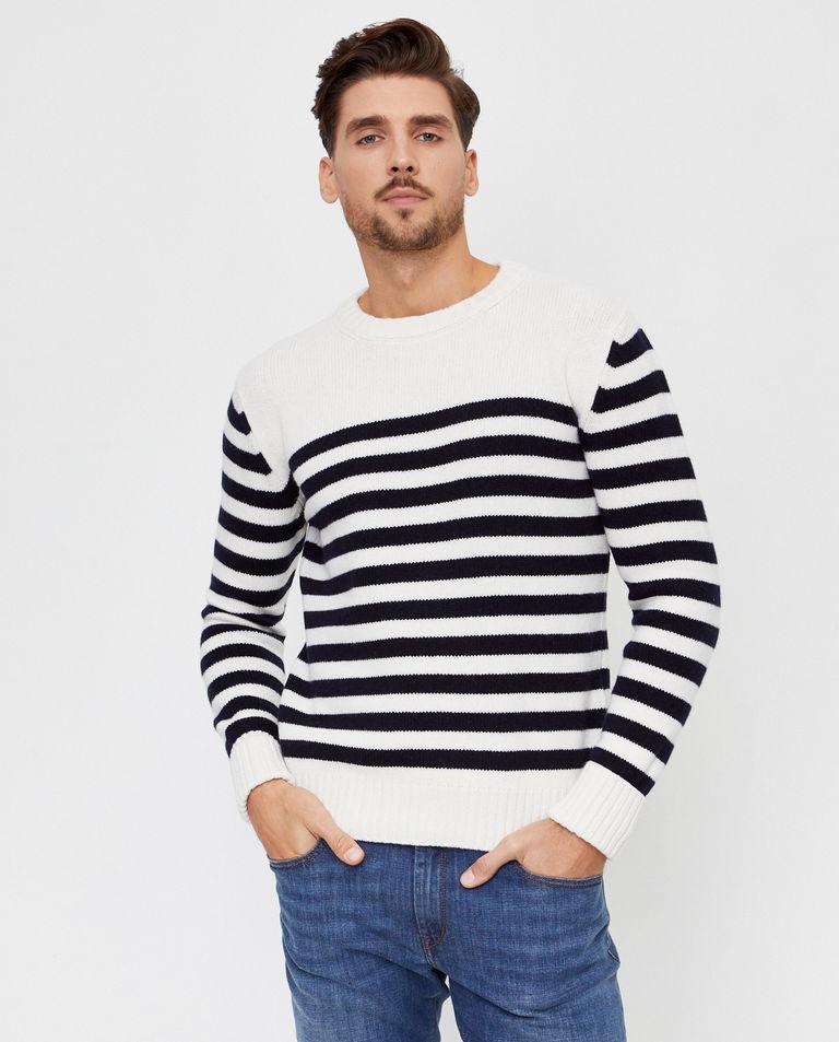 Wełniany sweter w pasy Fay