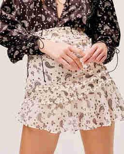 Spódnica mini z szyfonu