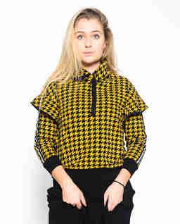 Bluza w żółto czarną pepitkę