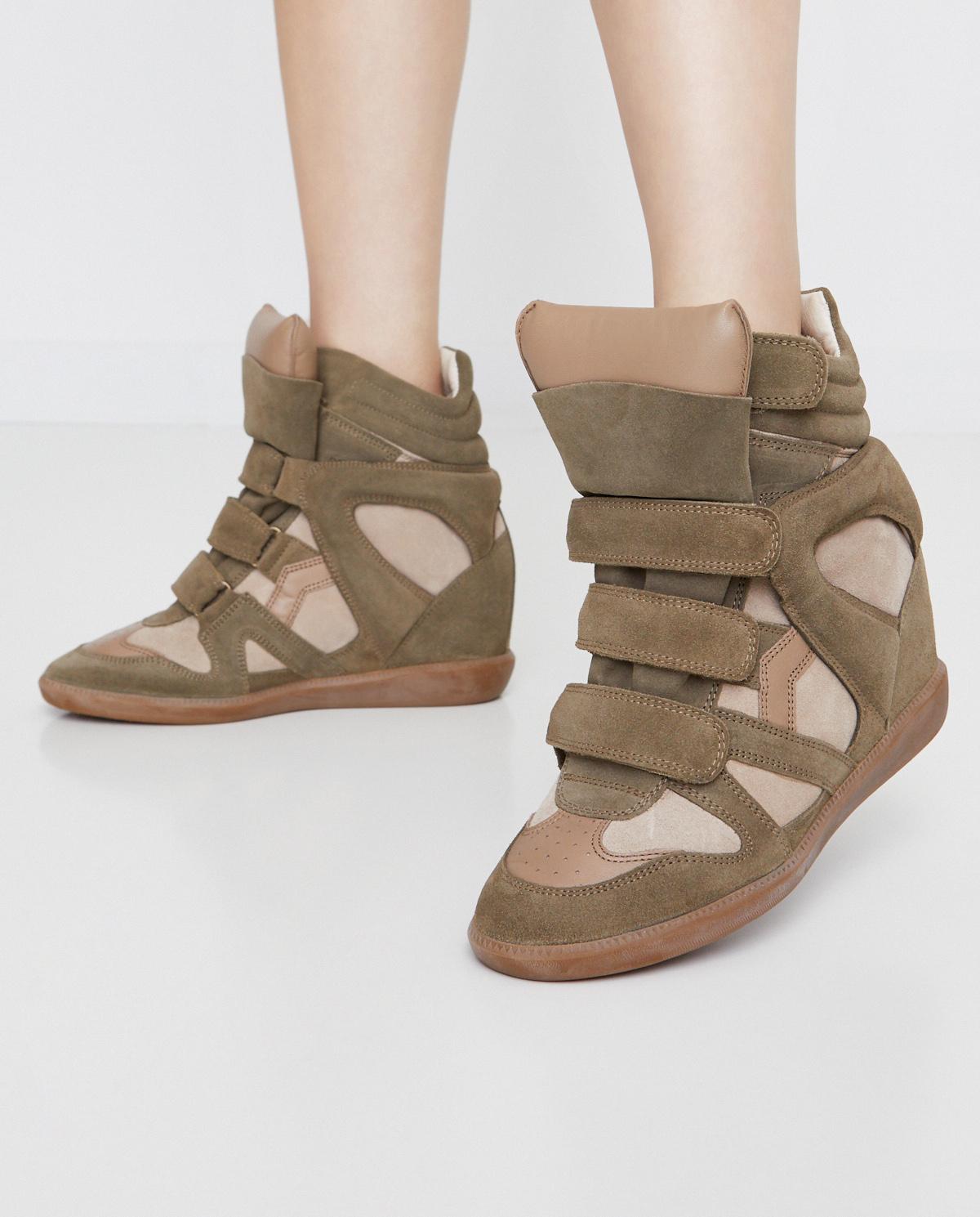 Sneakersy Bekett Taupe Isabel Marant Moliera2 Com