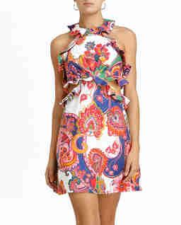 Wzorzysta sukienka z lnu