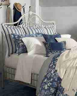 Niebieska poszewka na poduszkę Indigo