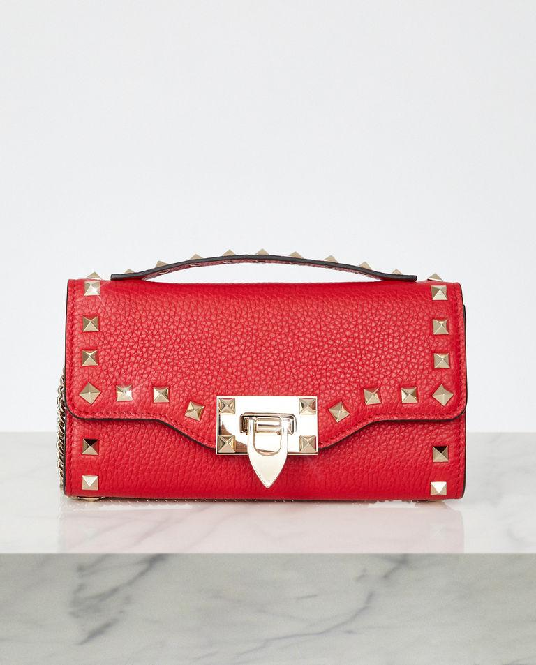Czerwona torebka na łańcuszku Rockstud Valentino
