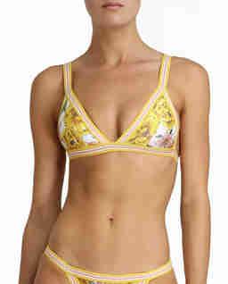 Żółty top od bikini