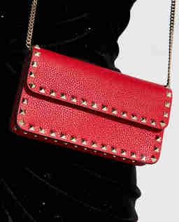 Czerwona torebka na ramię Rockstud