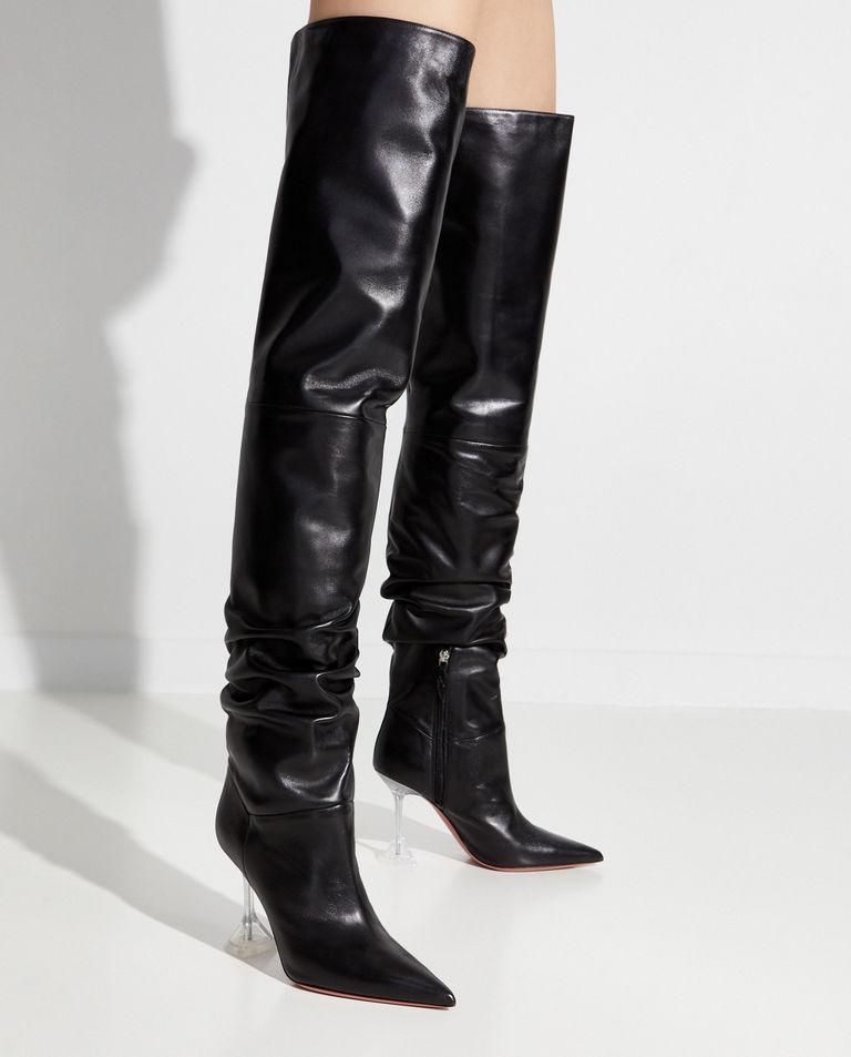 Czarne kozaki za kolano Olivia Amina Muaddi