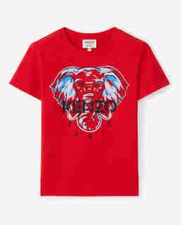 Czerwony t-shirt ze słoniem Tokyo