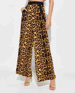 Szerokie spodnie Safari