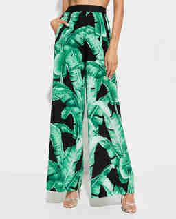 Szerokie spodnie Jungle
