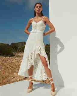 Biała koronkowa sukienka Julie