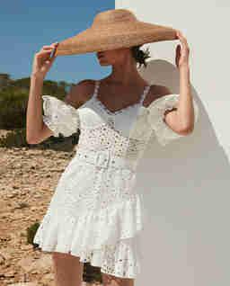 Biała sukienka mini Denisse