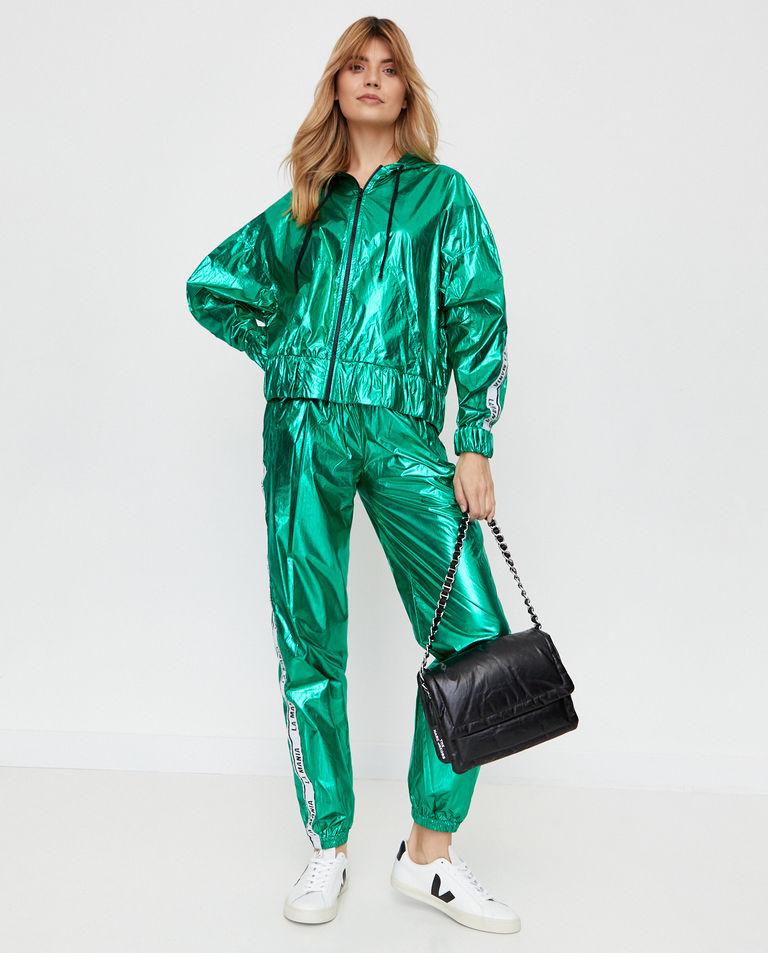 Zielone spodnie z połyskiem Calle La Mania