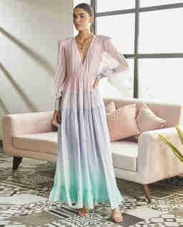 Sukienka maxi z efektem ombre