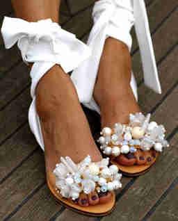 Sandały z wiązaniem Gloria