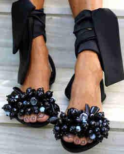 Czarne sandały Gloria