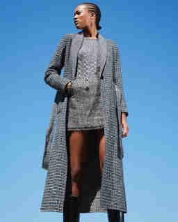 Dwustronny płaszcz z wełną