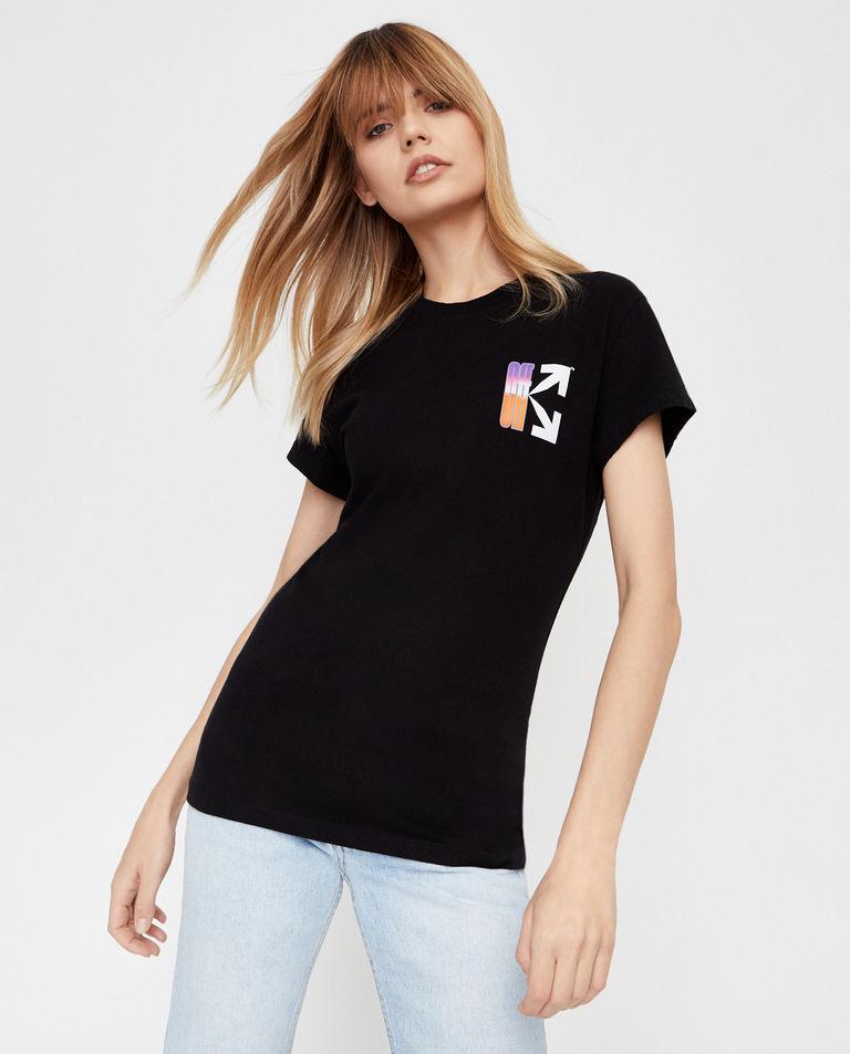 Czarny t-shirt ze strzałami Off-White