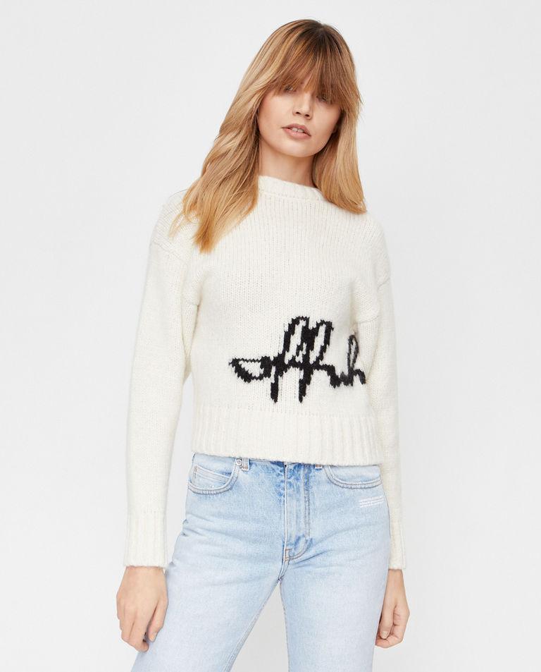 Wełniany sweter z logo Off-White