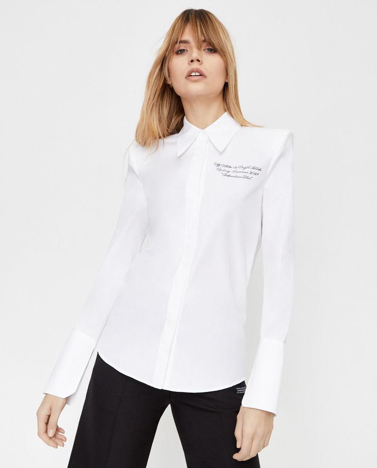 Koszula z wyszytym logo na piersi Off-White