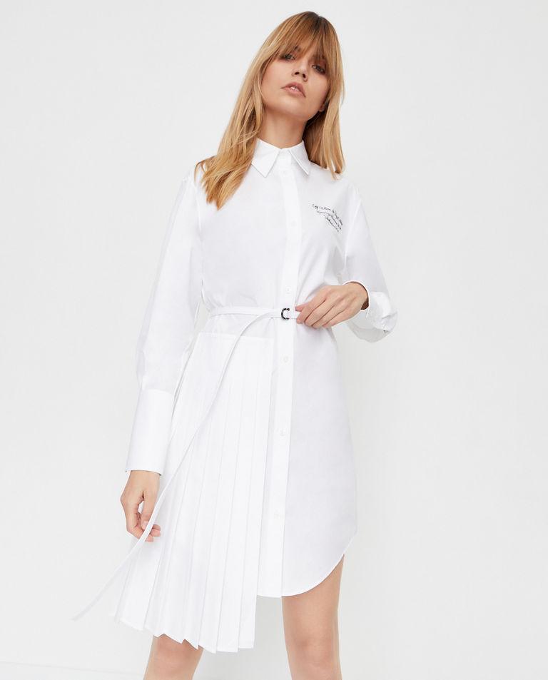 Koszulowa sukienka z bawełny Off-White