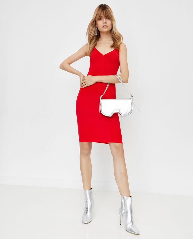 Czerwona sukienka z dzianiny Off-White