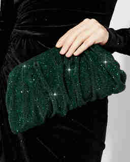Zielona kopertówka z kryształów Venus Emerald Large