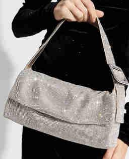 Kryształowa torebka Monique Large Crystal Silver