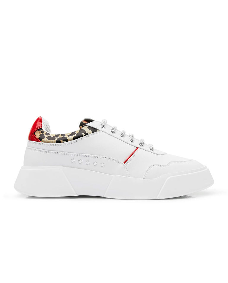 Białe sneakersy Leo Premium Basics