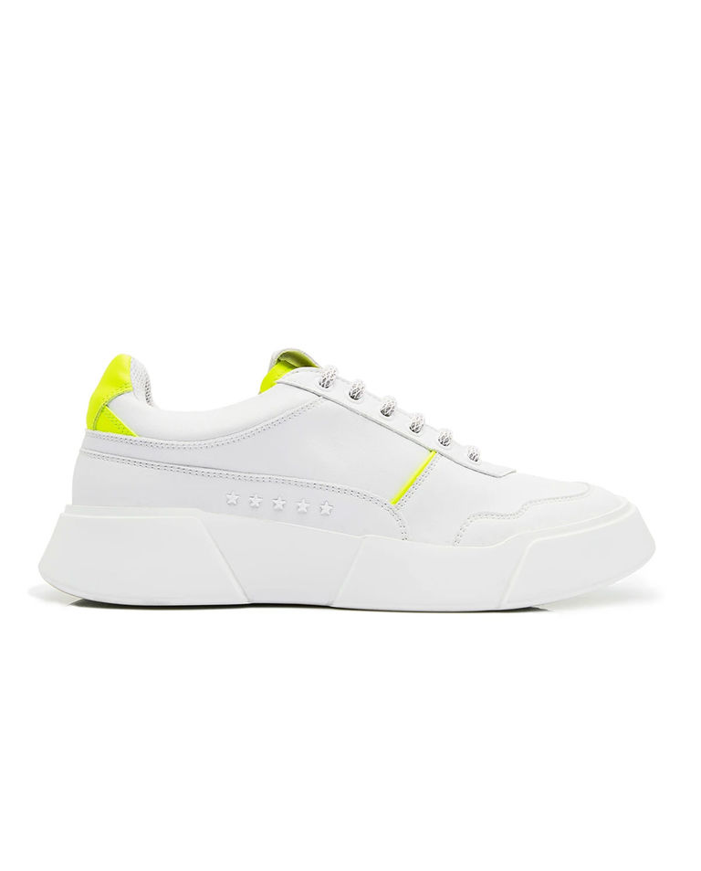 Sneakersy z żółtą piętą Fluo Premium Basics