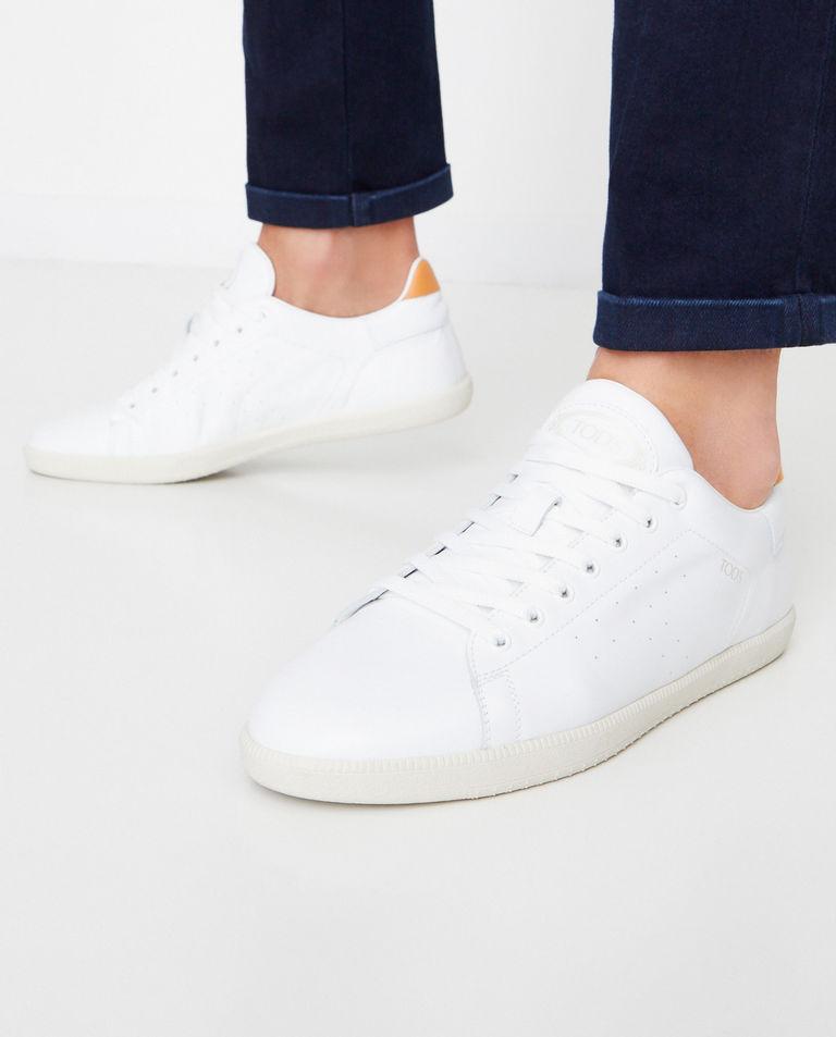 Białe skórzane sneakersy Tod's