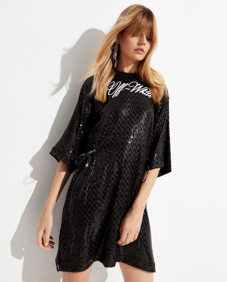 Czarna sukienka w cekiny Off-White