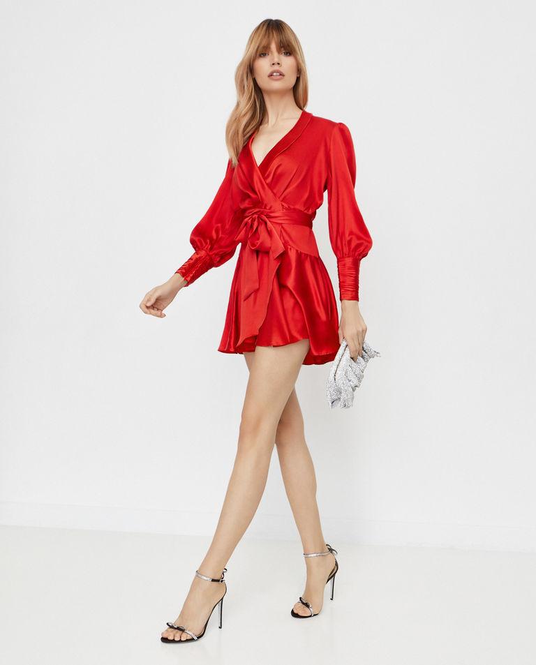 Czerwona sukienka z jedwabiu Zimmermann