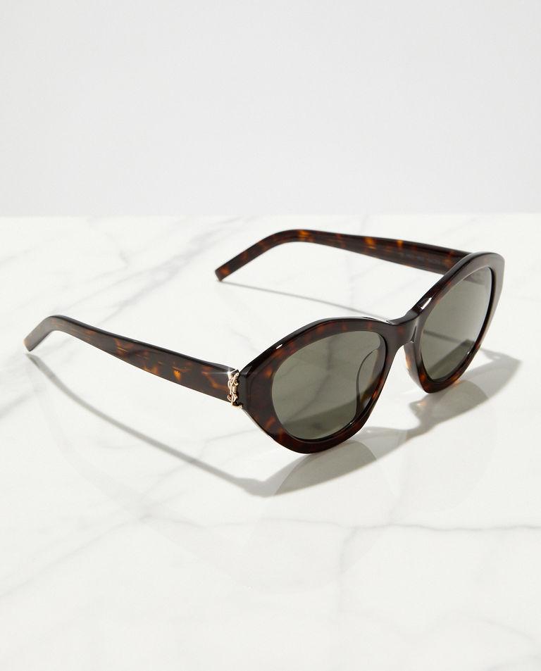 Marmurkowe okulary przeciwsłoneczne Saint Laurent