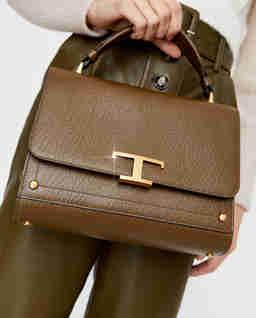 Skórzana torebka na ramię Timeless
