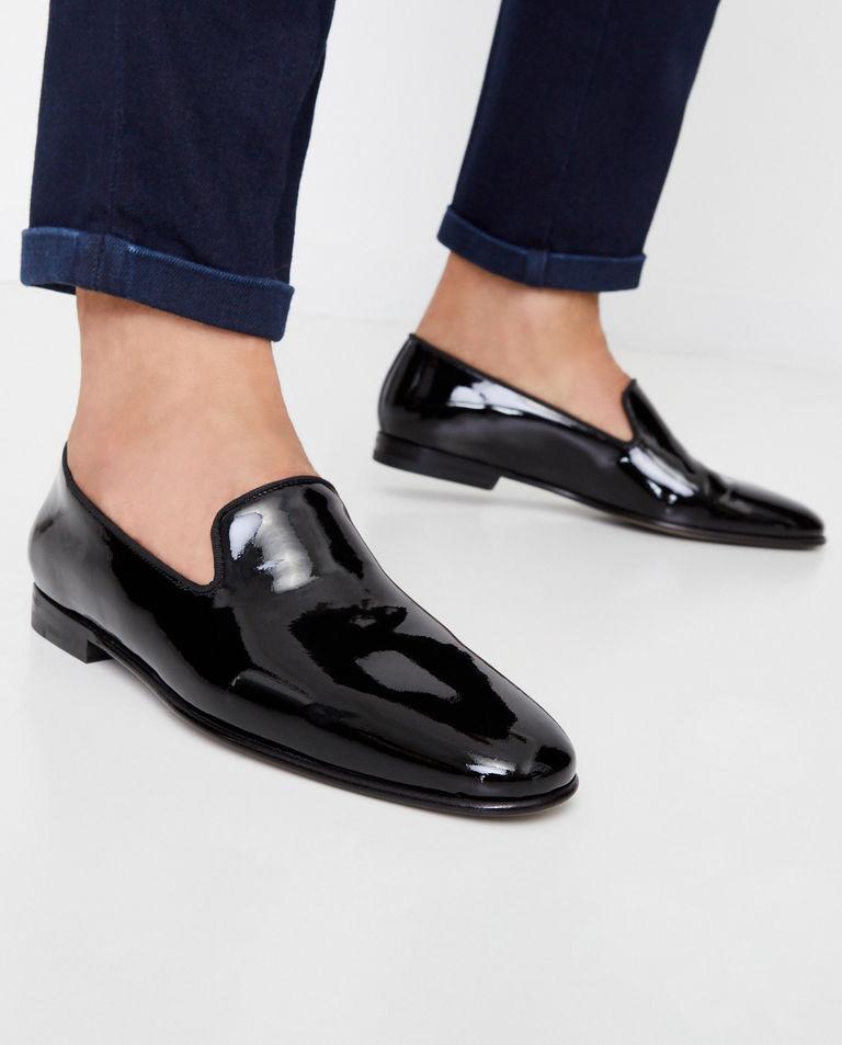 Czarne loafery Mario Manolo Blahnik