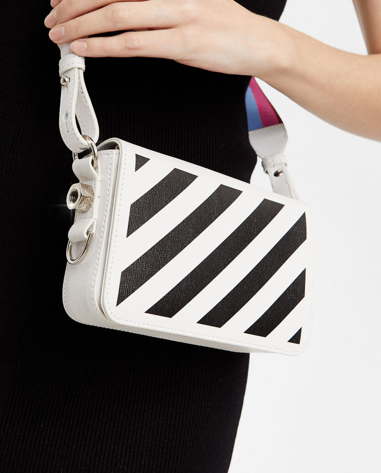 Mała torebka w pasy Off-White