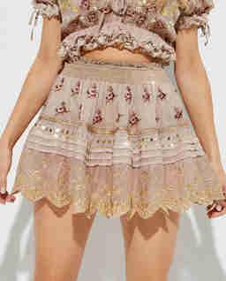 Haftowana spódnica z bawełny