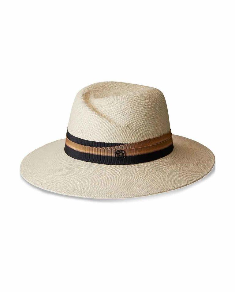 Beżowy kapelusz Virginie Maison Michel Paris
