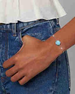 Biało-niebieska bransoletka The Medallion