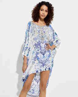 Asymetryczna sukienka z jedwabiu