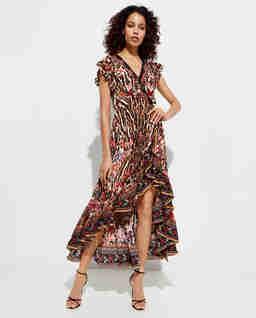Kopertowa sukienka maxi