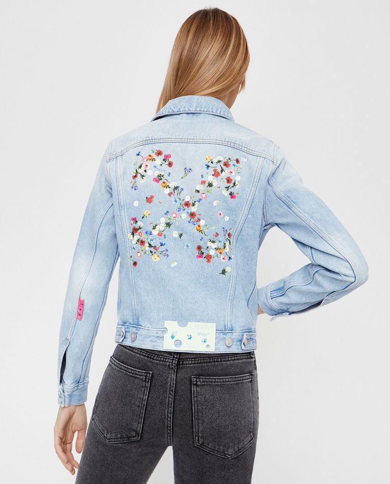 Jeansowa kurtka ze strzałami Off-White