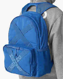 Niebieski plecak z logo Sport