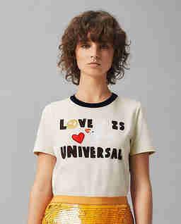 Biały t-shirt z aplikacją