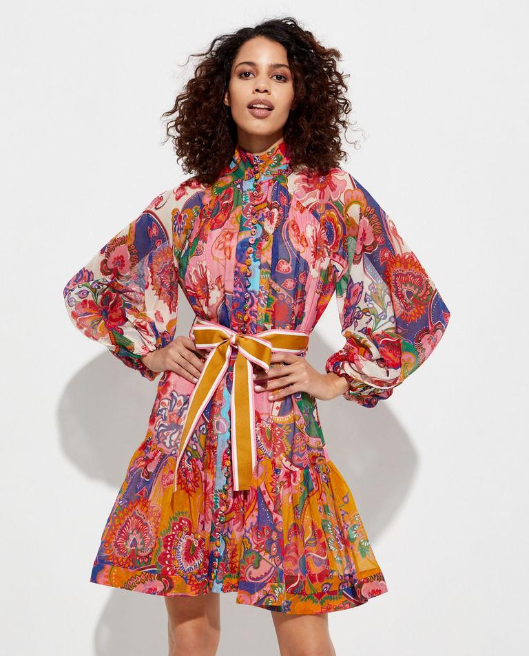 Wzorzysta sukienka mini Zimmermann