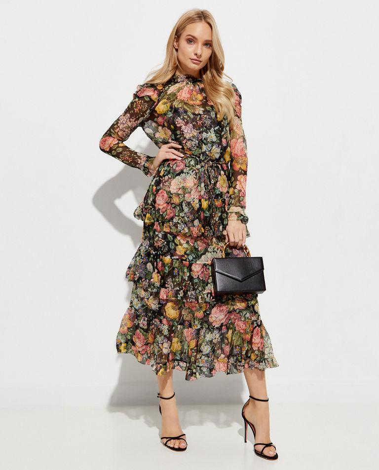 Sukienka z kwiatowym nadrukiem Zimmermann
