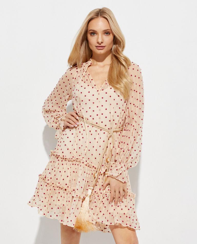 Różowa sukienka mini Zimmermann