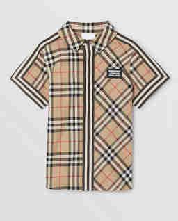 Bawełniana koszula z krótkim rękawem 4-12 lat