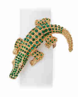 Zestaw 4 pierścieni na serwetki Crocodile